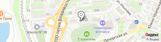 Альфа на карте Владивостока