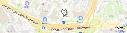 Автомиг на карте Владивостока