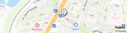 Банкомат, Росбанк, ПАО на карте Владивостока