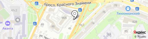Автостоянка на крыше на карте Владивостока