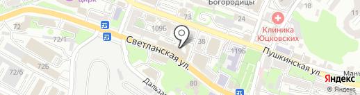 Адамант на карте Владивостока