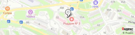 Владивостокский клинический родильный дом №3 на карте Владивостока