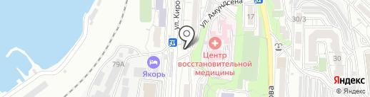 Теплый След на карте Владивостока