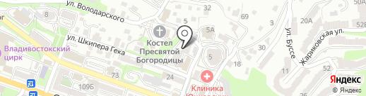 Управление по делам ГО и ЧС Ленинского района на карте Владивостока