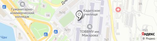 Владивостокское президентское кадетское училище на карте Владивостока