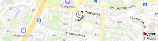 Радово в Лукьяновке на карте Владивостока
