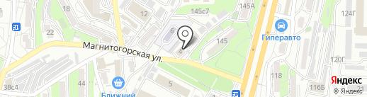 Сизаль на карте Владивостока