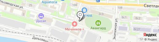 БИНБАНК, ПАО на карте Владивостока