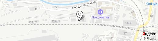 Движение ДВ на карте Владивостока
