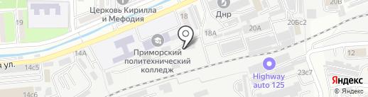 Аквазет на карте Владивостока