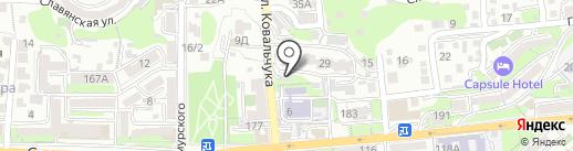 Teperikova на карте Владивостока