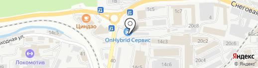 ТЕСЛА ГИБРИД на карте Владивостока