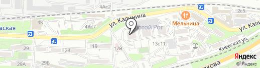 Золотой Рог на карте Владивостока