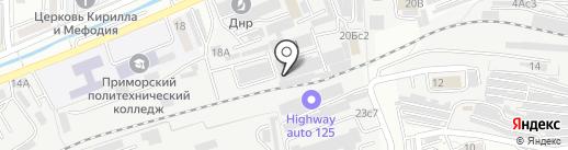 Краузе на карте Владивостока