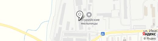 Уссурийские мельницы на карте Уссурийска