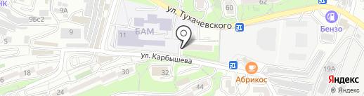 Профессиональная парикмахерская на Карбышева на карте Владивостока