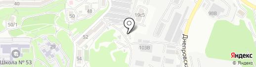 Карбышева на карте Владивостока