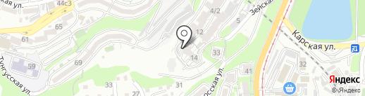 Озёрный на карте Владивостока