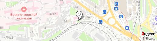 Автошкола ПРОФИ ЦЕНТР, АНОО на карте Владивостока