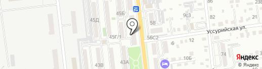 Зверев на карте Уссурийска