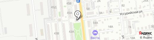 Шаг за шагом на карте Уссурийска