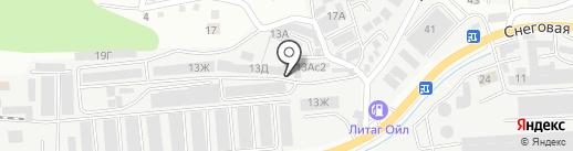 Дизель-Парк на карте Владивостока