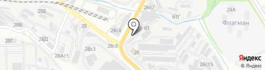 Автомойка на карте Владивостока