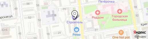 Строитель на карте Уссурийска