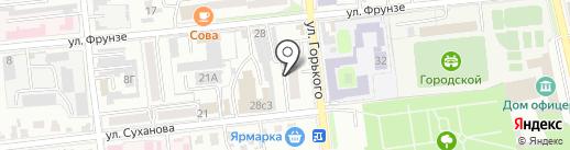 Серена на карте Уссурийска