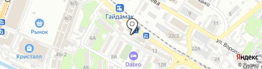 Влад-инженер на карте Владивостока