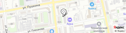 Общежитие на карте Уссурийска