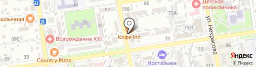 Вектор на карте Уссурийска