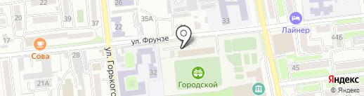 Городской стадион на карте Уссурийска