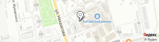 Электрон на карте Уссурийска