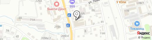 Гефест на карте Уссурийска