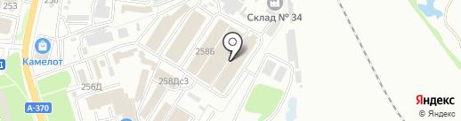 Красное колесо на карте Уссурийска