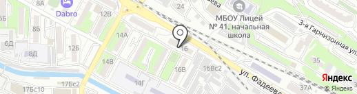Витязь на карте Владивостока