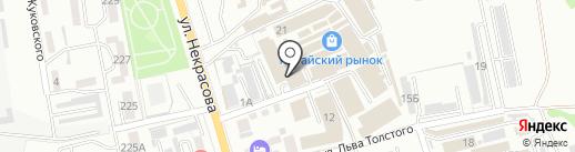 Магазин канцелярских товаров на карте Уссурийска