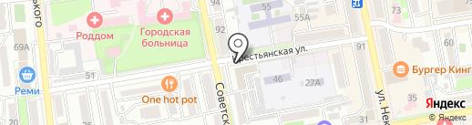 Корандо на карте Уссурийска