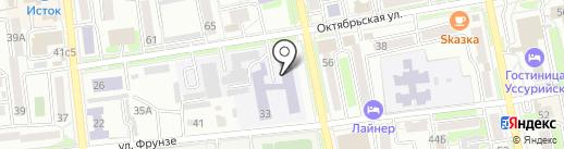 Уссурийский агропромышленный колледж на карте Уссурийска