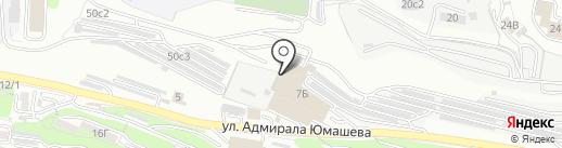 Родос на карте Владивостока