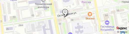Магазин товаров для рыбалки и отдыха на карте Уссурийска