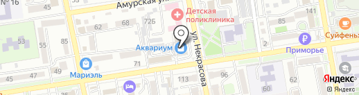 Банкомат, СКБ Приморья Примсоцбанк на карте Уссурийска