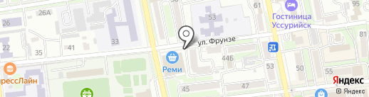 7Отличий на карте Уссурийска