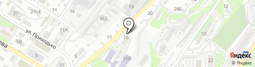 Автомойка на Стрелковой на карте Владивостока