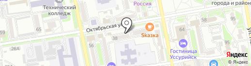 Стиль на карте Уссурийска