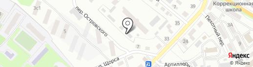 Штраф-стоянка на карте Уссурийска