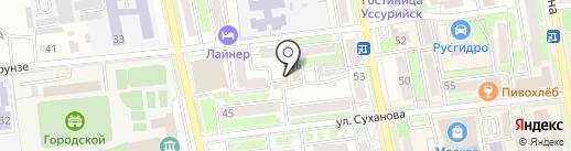 Альфа ДВ на карте Уссурийска
