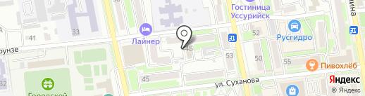 Студия депиляции на карте Уссурийска
