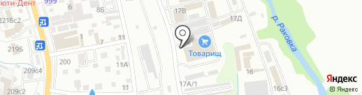 Алмаз на карте Уссурийска